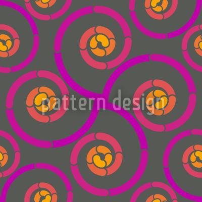 Glowing Vortex Vector Pattern
