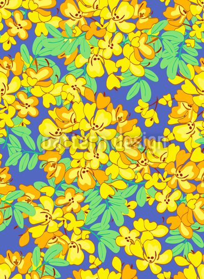 Blooming Sunshine Tree Pattern Design