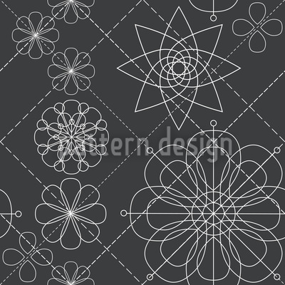 Blumen Konstruktion Vektor Muster