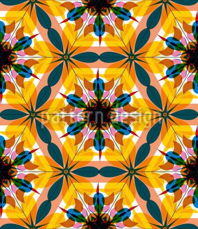 Kaleidoscope Extreme Colors Pattern Design