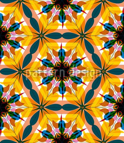Kaleidoskop Extrem Bunt Nahtloses Vektormuster