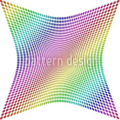 Die Verzerrung Des Regenbogenkaros Vektor Muster