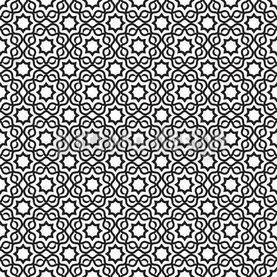 Islamic Black And White Repeating Pattern