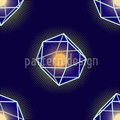 Polygones Leuchten Nahtloses Vektormuster
