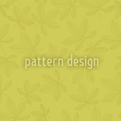 Chestnut Leaves Green Design Pattern