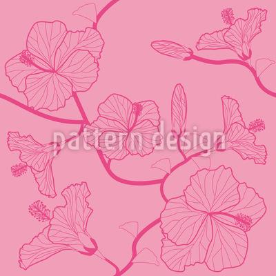 Hibiskustraum Pastell Muster Design