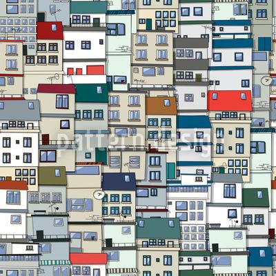 Pequena parte da cidade Design de padrão vetorial sem costura