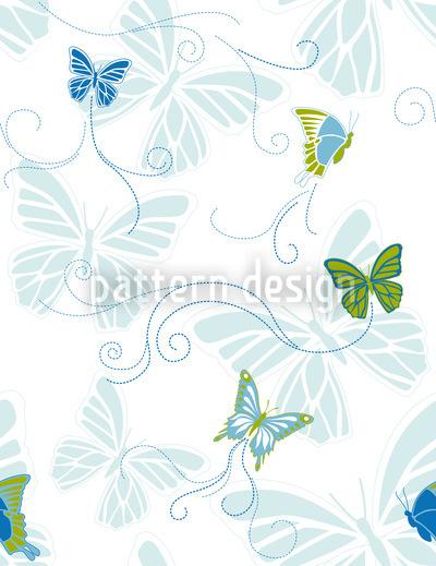 Schmetterlinge Am Wasser Nahtloses Vektor Muster
