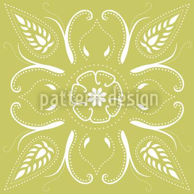 Bandana Verde Mellow Estampado Vectorial Sin Costura