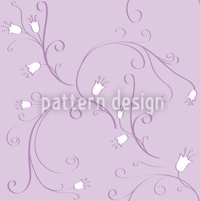 Bell Flowers In Flux Seamless Vector Pattern