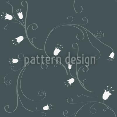 Glockenblumen Nachttraum Vektor Muster