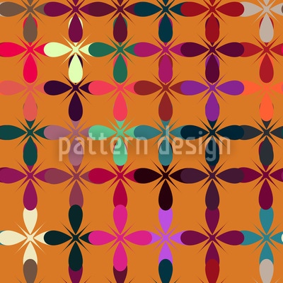 Golden Fantasy Garden Repeating Pattern