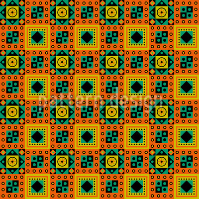 Ethno To The Square Repeat Pattern