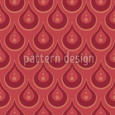 Rubinregen Muster Design