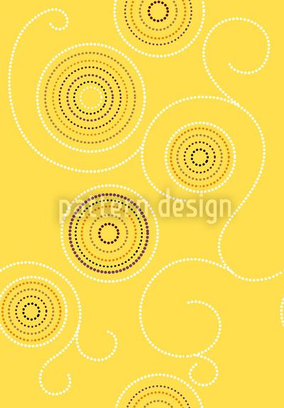 Аборигине Солнечные Свертки Бесшовный дизайн векторных узоров