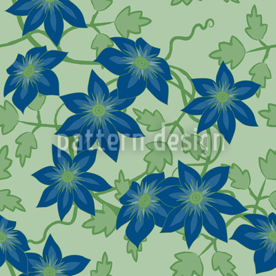 Clematis Dream Garden At Day Design Pattern
