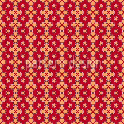 Kleine Blümchenketten  Nahtloses Vektor Muster