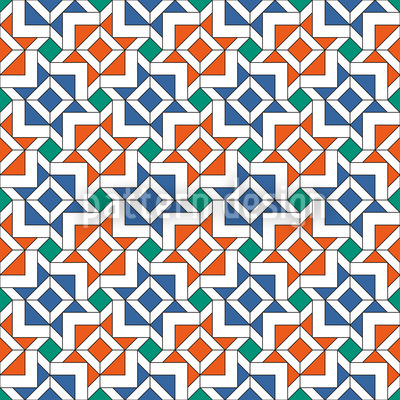 Geometric Alhambra Seamless Vector Pattern Design