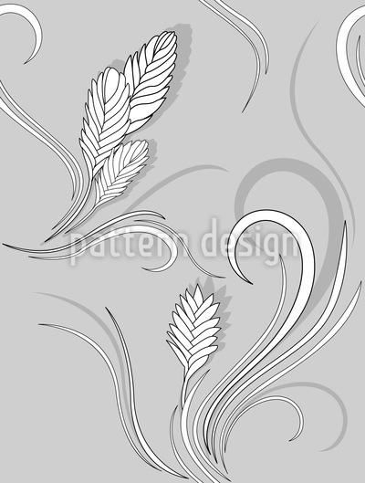 Bromelia Monochrom Nahtloses Muster