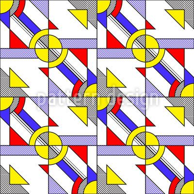Siebdruck Pop Art Nahtloses Vektormuster