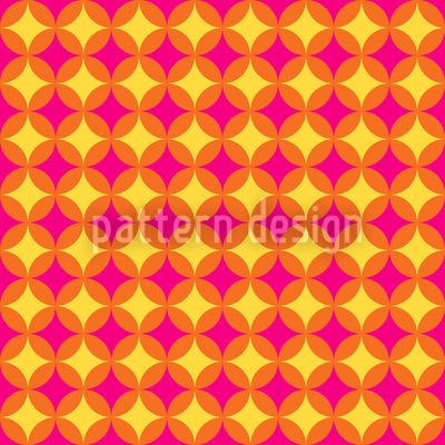 Circular Retro Diamonds Repeating Pattern
