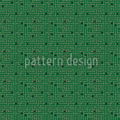 Motherboard CS Seamless Vector Pattern Design