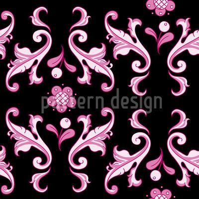 Baroquo Folk Pink Seamless Pattern
