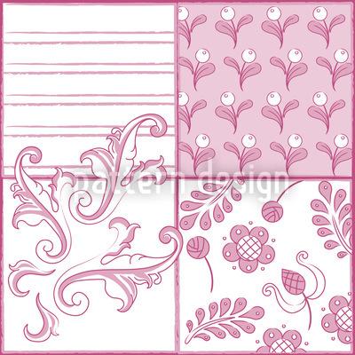 Malkunst In Rosa Nahtloses Vektor Muster