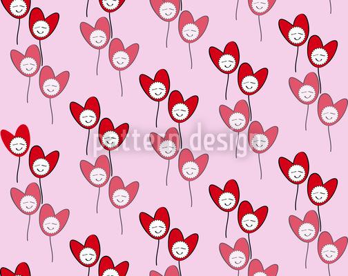 Frohe Herzen Vektor Muster