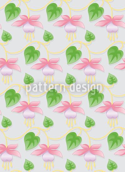 Delicate Garden Fuchsia Pattern Design