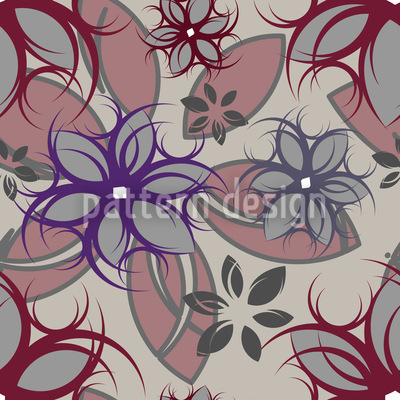 Flowers Of Manga Seamless Vector Pattern Design