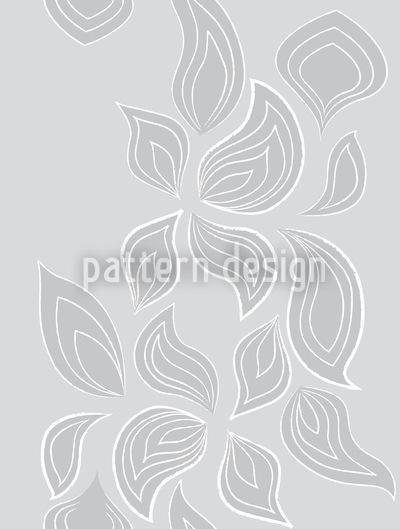 Blätter Im Schnee Muster Design