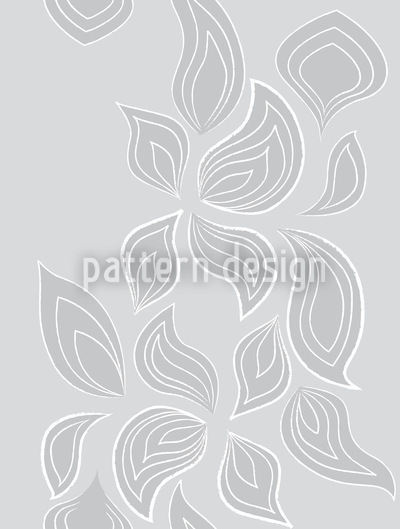 Leaves In The Snow Pattern Design