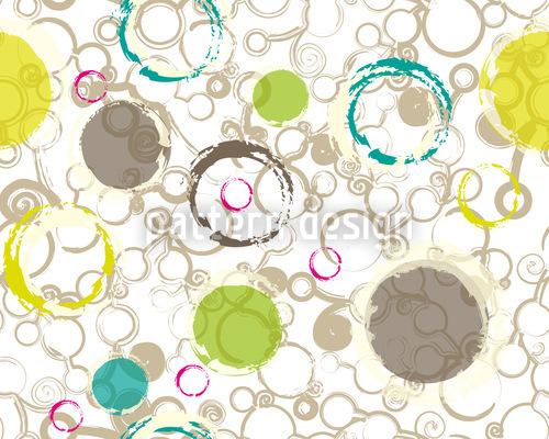 Primavera desenhar círculos Design de padrão vetorial sem costura