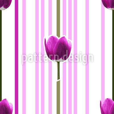 Tulpe Pink Nahtloses Vektormuster