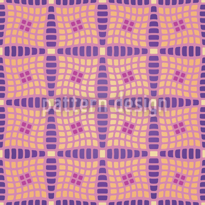 Violas Patchwork Quilt Vector Ornament