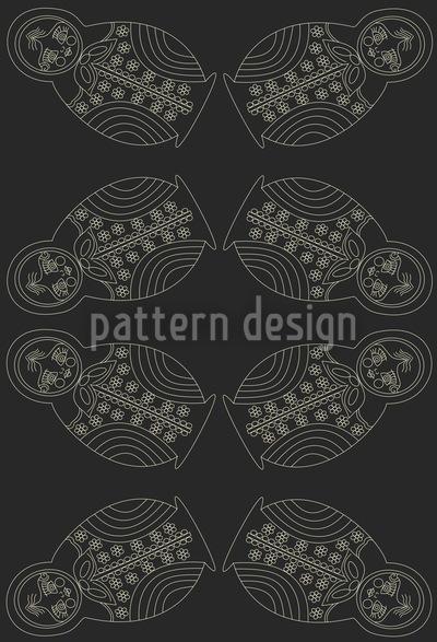 Matrioschka Bei Nacht Muster Design