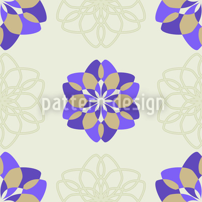 Rosa Floralis Seamless Vector Pattern Design