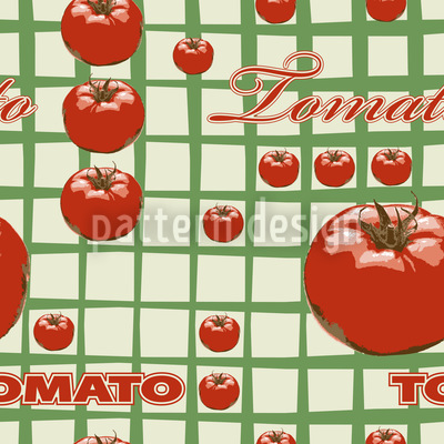 Tomato Seamless Vector Pattern Design