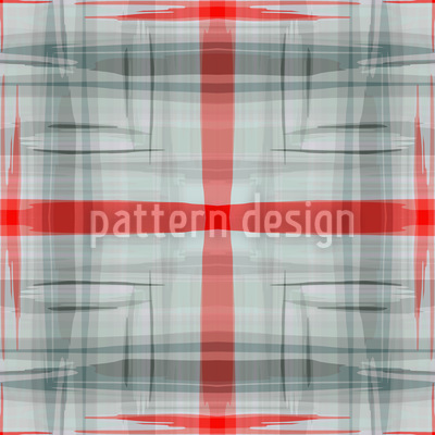 Red Crossing Seamless Pattern