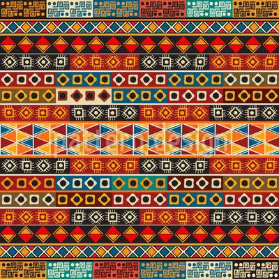 Ethno Stripes Seamless Pattern