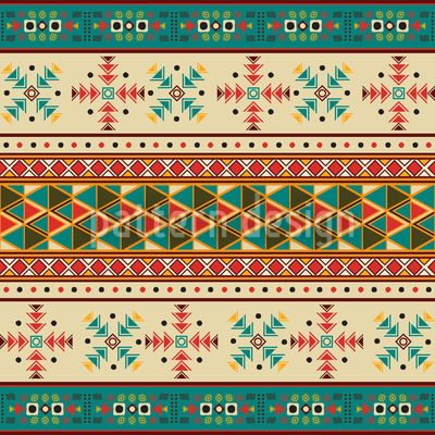 Cultural Roots Seamless Vector Pattern Design