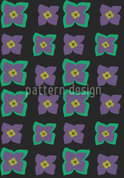 Primrosa Black Repeat Pattern