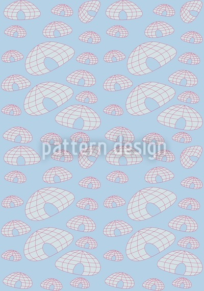 Iglu Polar Blues Pattern Design