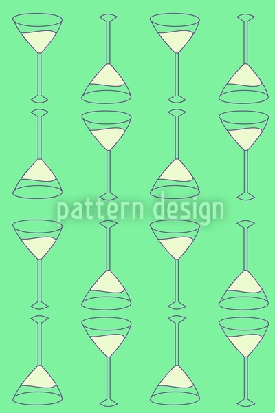 Martini Green Seamless Vector Pattern Design