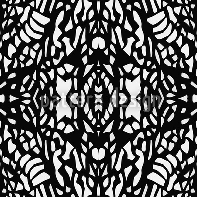 Silhouette Filigree Seamless Vector Pattern Design