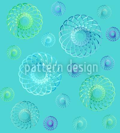 Viel Wirbel Im Frühling Muster Design