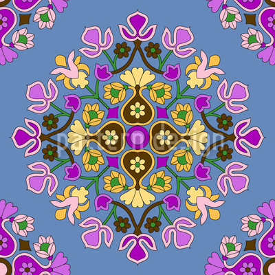 Oriental Bloom Pattern Design