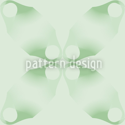 Flowers Lost On Green Repeating Pattern