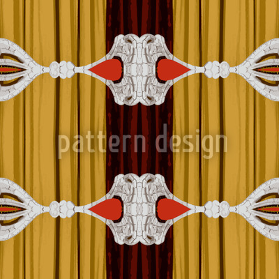 Curtains Up For Baroque Vector Ornament